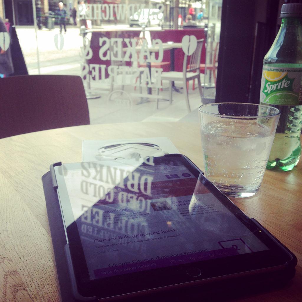 Working in Costa Coffee