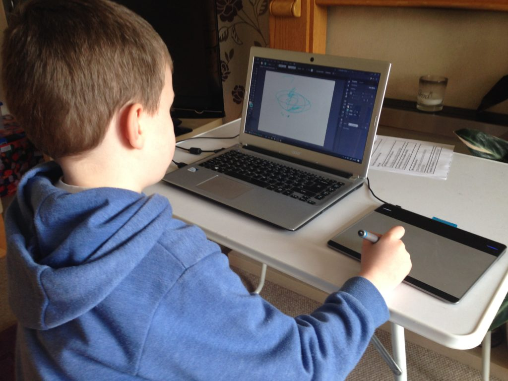 Homeschooling my youngest son Lewis