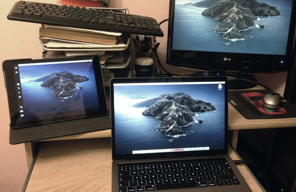 Multiple monitors including iPad